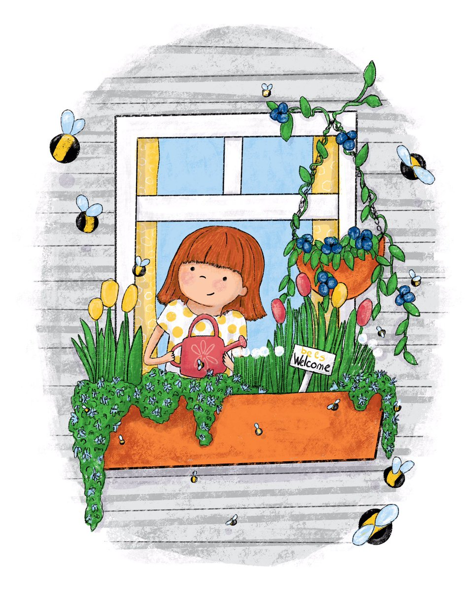 A last minute submission for SCBWI's draw this prompt for April: Bloom. This was fun  #scbwidrawthis #kidlitart #bloom<br>http://pic.twitter.com/1uXJStnk4r