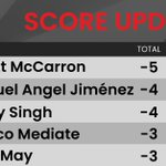Image for the Tweet beginning: McCarron continues to lead as