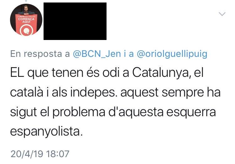 Si hago caso a mis menciones, soy un españolista que se quiere cargar España con ahínco.