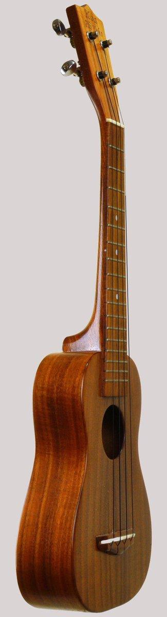 Koa pili koko long neck soprano concert scale