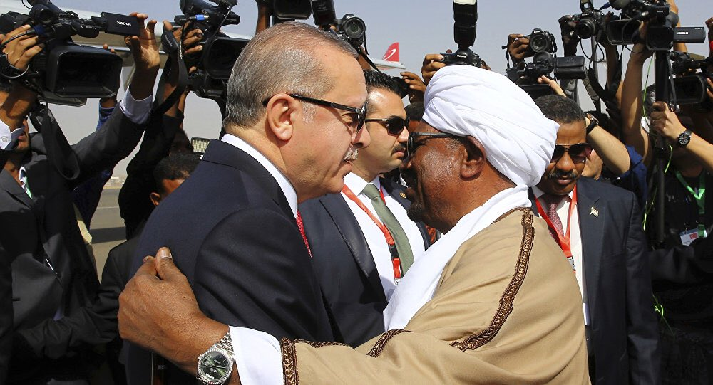 After downing Al-Bashir  Sudanese demand the withdrawal of controversial Turkish troops in Suakin, Sudan
