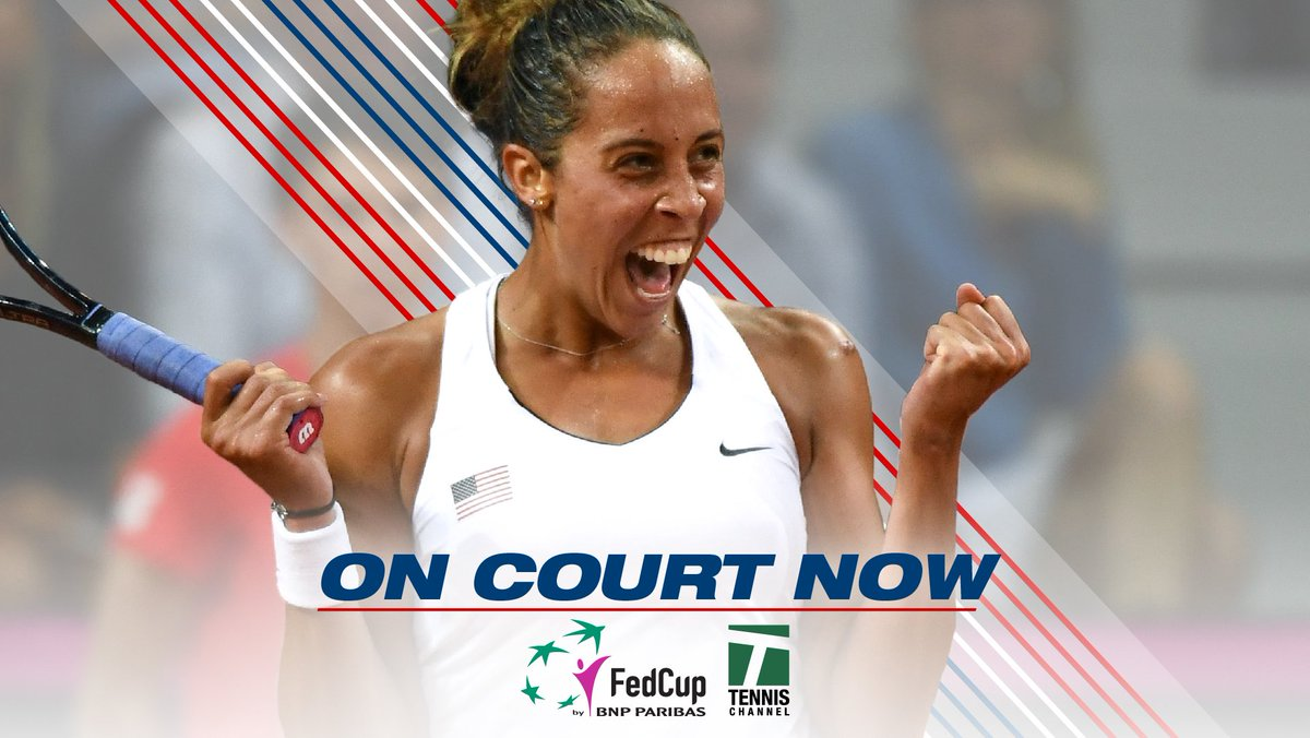 World Group Playoff time. @Madison_Keys vs Viktorija Golubic Watch #FedCup live now→tnns.ch/app