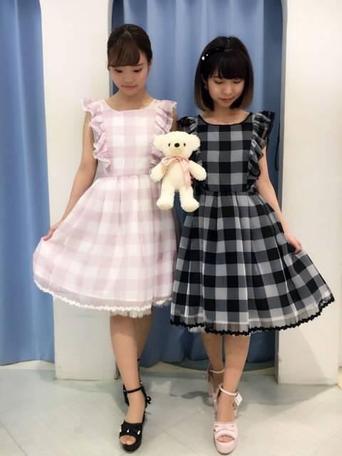 mille fille closet♡ギンガムチェックワンピース♡ http://snap.hana-bi.jp/front/detail/id/79220…
