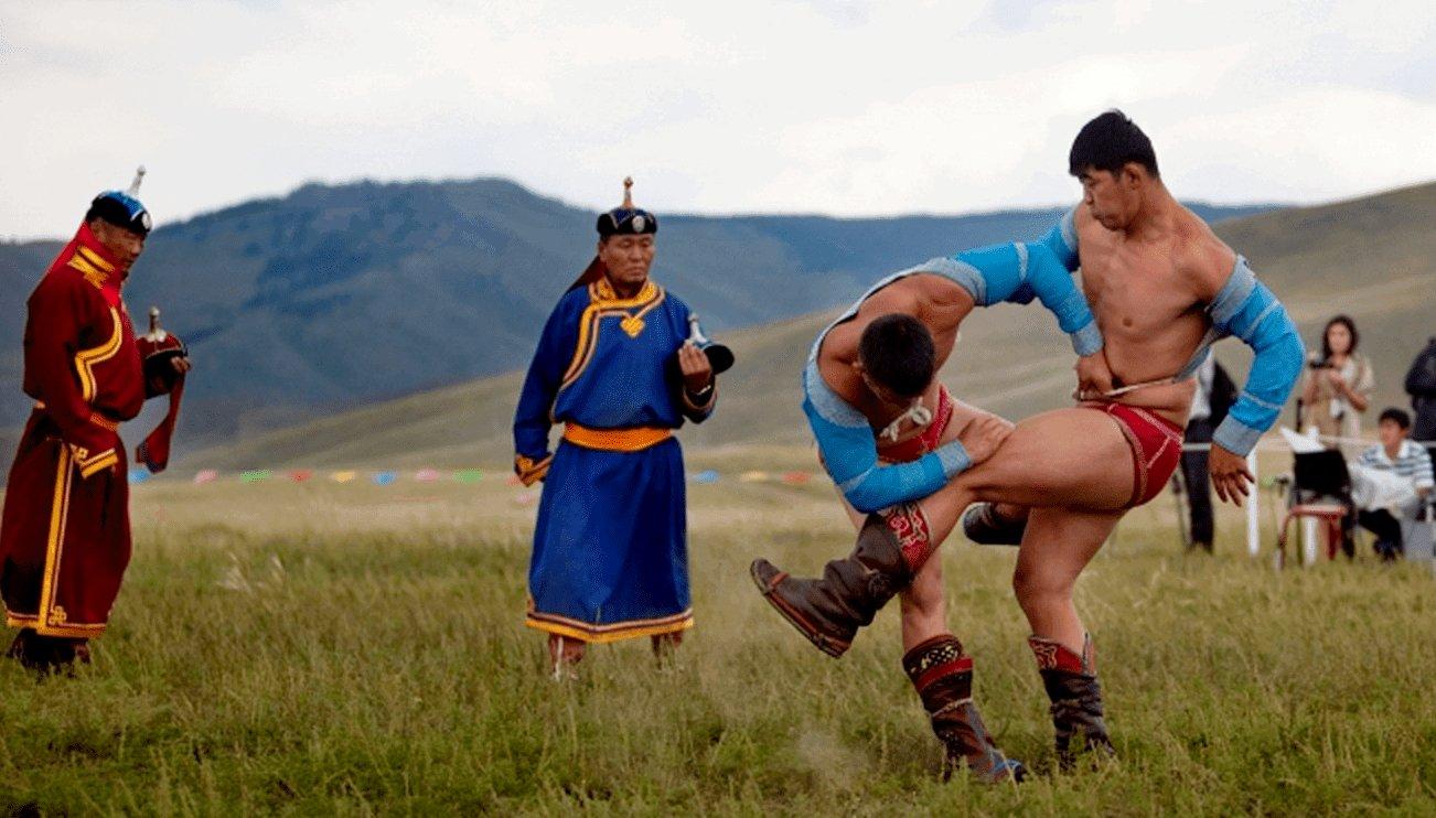 фото борца из монголии кот охотится хвостом