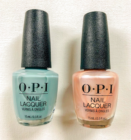 """Today's beauty giveaway is OPI Nail Lacquer in """"Ring Bare-er"""" and """"Chiffon-d of You"""". To enter, follow @davelackie & RT"""