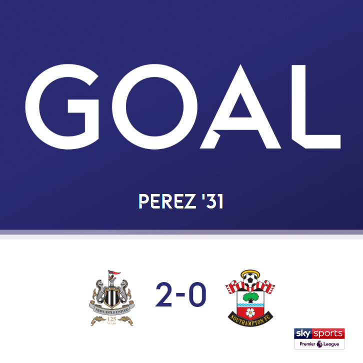 GOAL!  Newcastle 2-0 Southampton  Follow the @premierleague live here: http://skysports.tv/fyqmmb