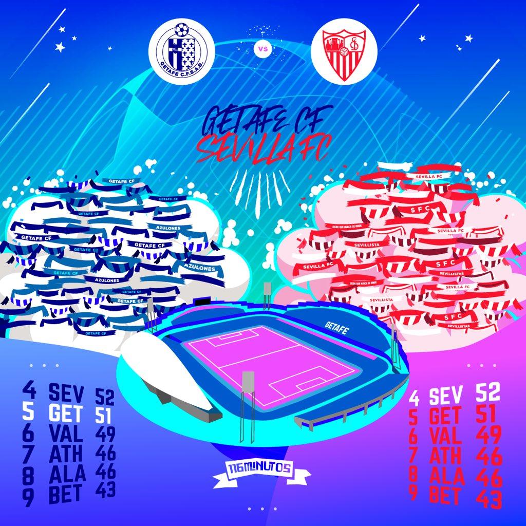 "Partido de ""Champions"" en el Coliseum! ⚔️✨ #getafecf #sevillafc #laliga #footballillustration"