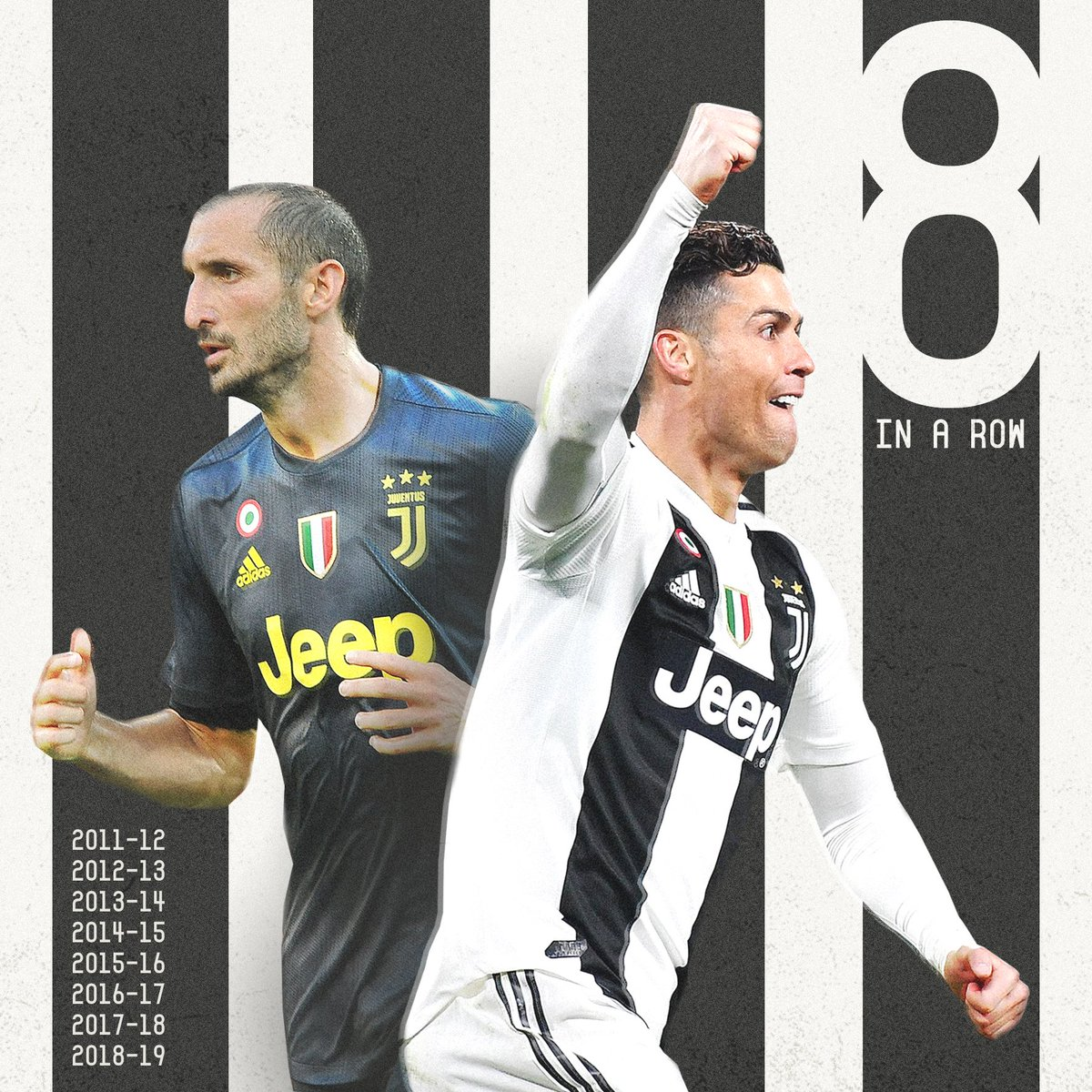 ⚫️⚪️ 8 in a row for Juve  🏆🏆🏆🏆🏆🏆🏆🏆