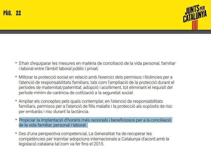 L'acte de @JuntsXCat a Puigcerdà comença a les 20:12 d'un dissabte. Això és el que diu el seu programa sobre la conciliació familiar. Una formació que dona suport al @govern que ha signat l'acord de la Reforma Horària 2019-2025