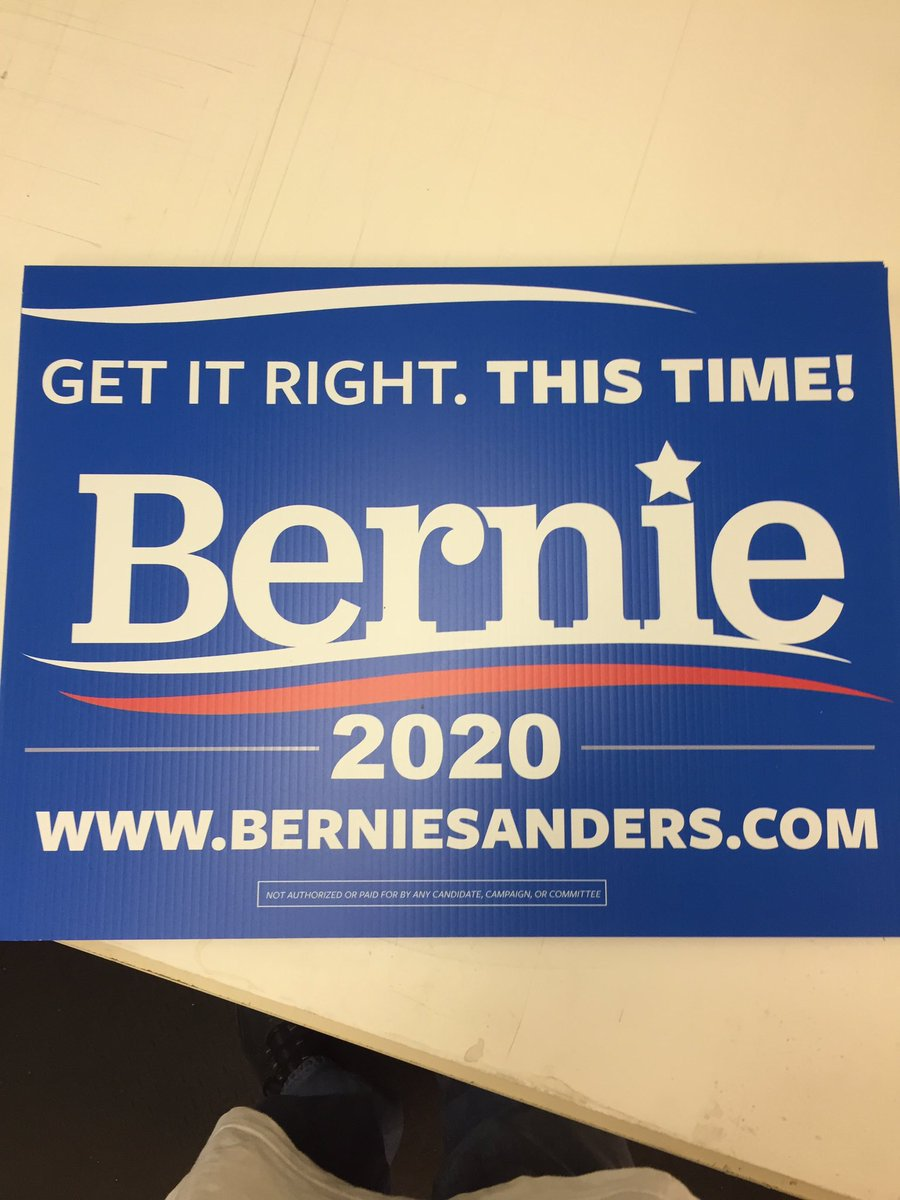 All right. Who wants a sign? #bernie2020 #FeelTheBern msg me for details <br>http://pic.twitter.com/W6dPTkDgPX