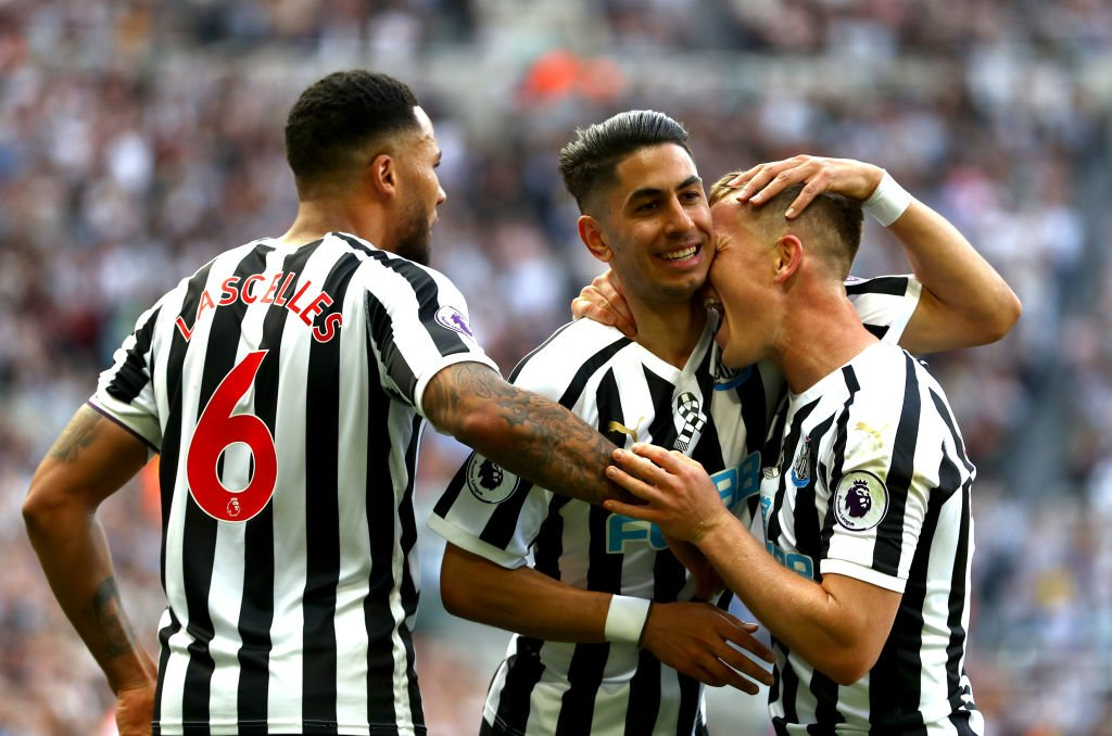 HAT TRICK HERO   Ayoze Perez netted his first @PremierLeague hat trick to push Newcastle towards safety.   👉http://skysports.tv/fEirm3