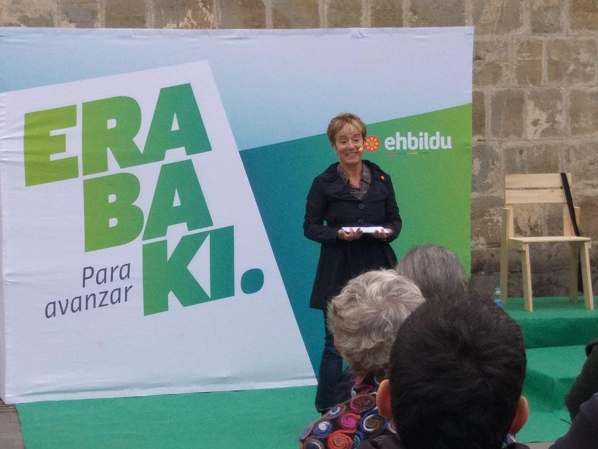 """Bel Pozueta: """"Vamos a ser la llave para frenar a las derechas, y llevar a cabo políticas sociales para seguir avanzando en derechos y libertades""""  #Erabaki #ParaAvanzar #AurreraBel"""