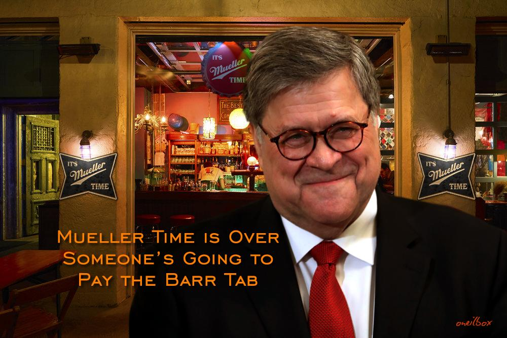 #Barr Tab coming due #MuellerTime is over <br>http://pic.twitter.com/MSdlDJE727