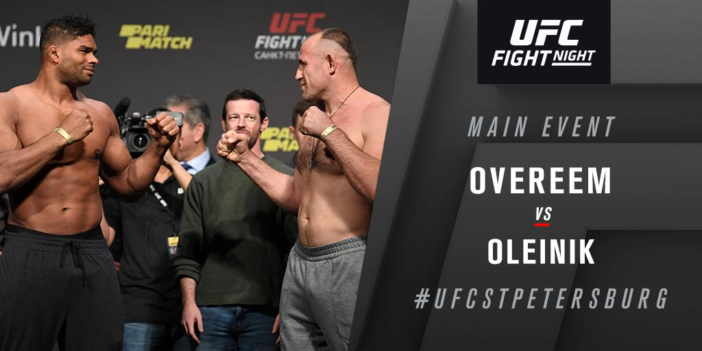 UFC Fight Night 149 'Overeem vs. Oleynik' - Play by Play Updates & LIVE Results -