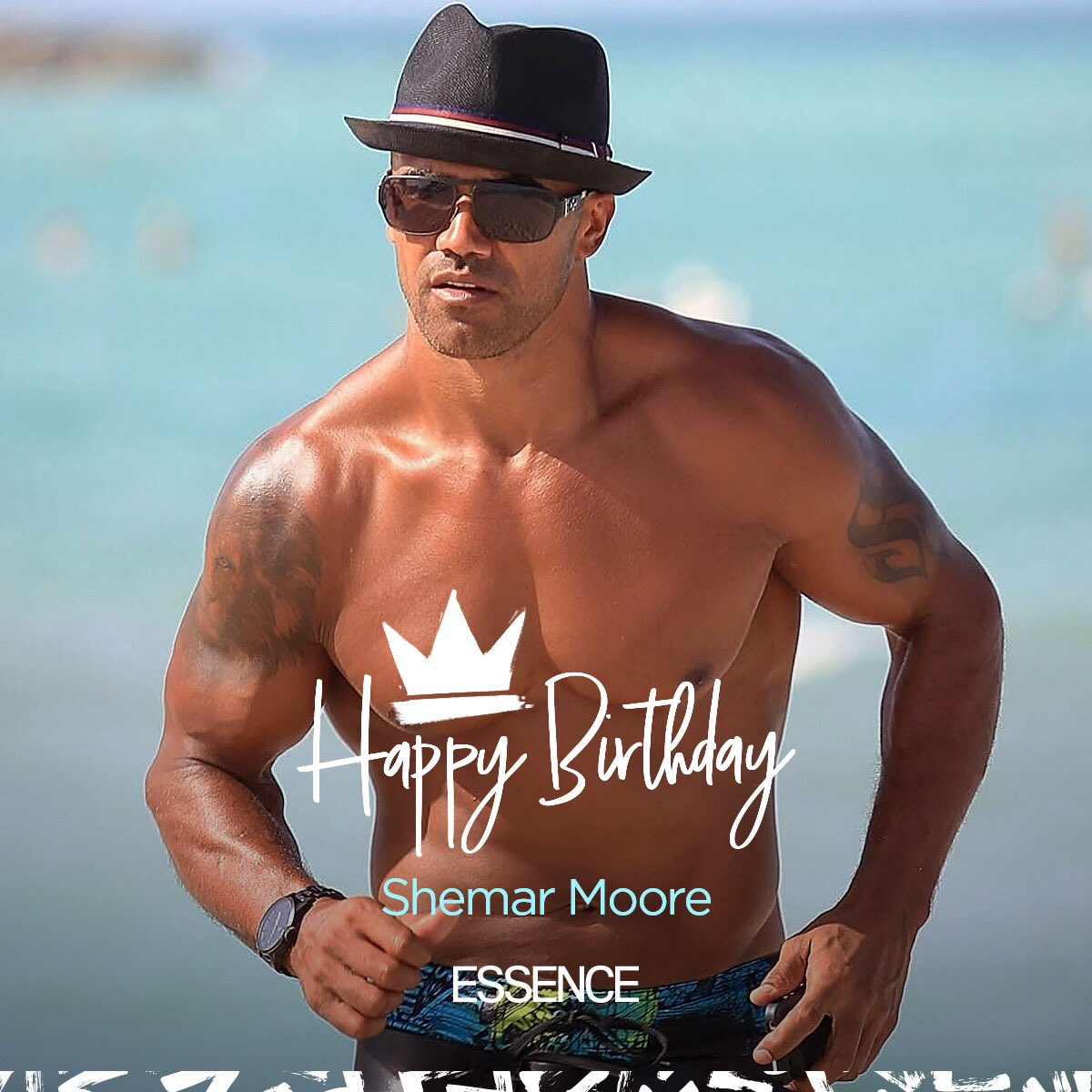 49 never looked so fine 😍. Happy Birthday, @shemarmoore 🎈! Do you remember the first film, show or campaign you saw the thirst-inducing Mr. Moore in?