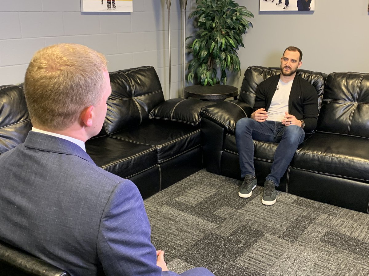Tonight on @W2WSports sponsored by @Roosters, @DaveHolmesTV sits down with #CBJ captain @NickFoligno and talks with @JacketsInsider about the Blue Jackets sweep of the Tampa Bay Lightning. Watch tonight at 11:35 on @10TV.