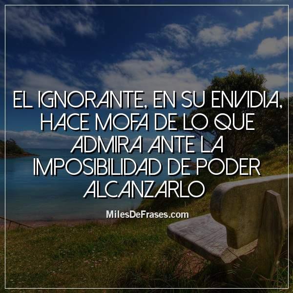 Uživatel Frases En Imágenes Na Twitteru El Ignorante En