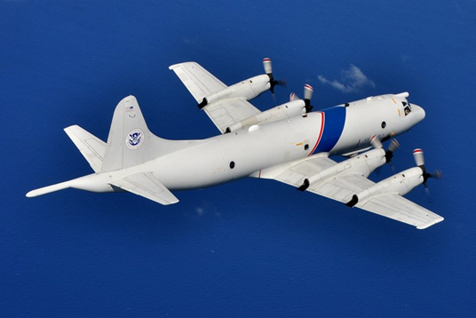An #AMO P-3 crew spotted a go-fast vessel in waters off the SW coast of Mexico. The crew worked with @USCG to interdict the vessel that was carrying 619lbs of cocaine. Two Ecuadorian nationals were detained. Learn about AMO's extended border operations: http://bit.ly/2GuePqU