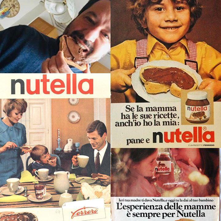 Dolce Pasqua a voi Amici! E una bella fetta di pane e Nutella (che oggi compie 55 anni, auguri!) ai simpatici, buonisti e accoglienti milionari di sinistra Fazio e Saviano😘