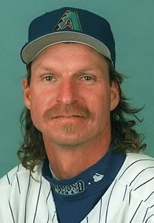 a pitcher for the Diamondbacks finally honoring Randy Johnson's magical mullet. Gonna need a moment.
