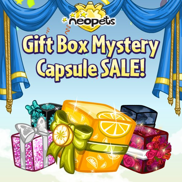 Blooming Flowers Gift Box Mystery Capsule Neopets - Flowers