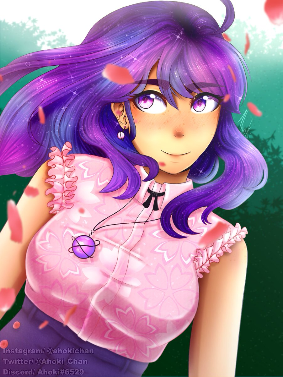 Original Art  I always wanted to draw a galaxy-type of hair! So I did, and I&#39;m so happy with the result &lt;3  &amp; +8h  Paint Tool Sai &amp;amp; Clip Studio Paint <br>http://pic.twitter.com/GPVLye9aMM