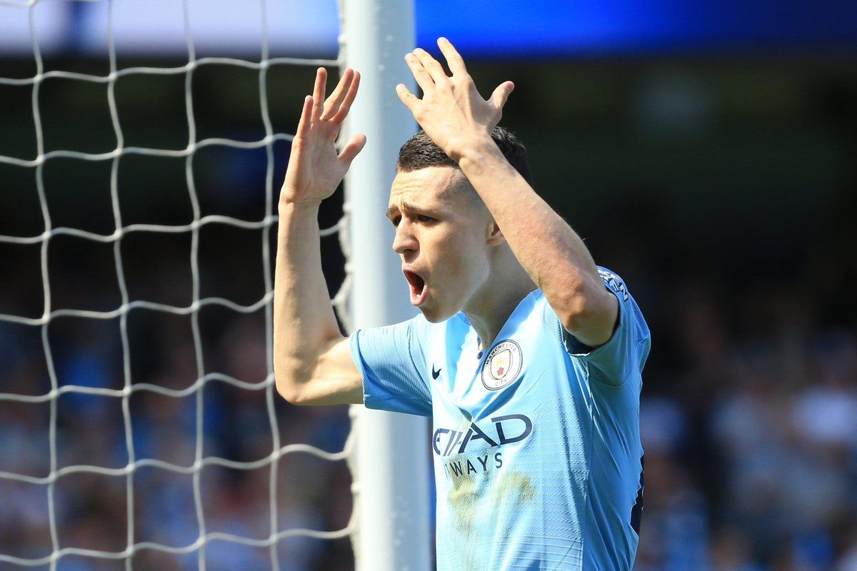 What a time to score your first Premier League goal.  Phil Foden is the third youngest player to score in the competition for Man City (after Micah Richards and Daniel Sturridge).  #MOTD
