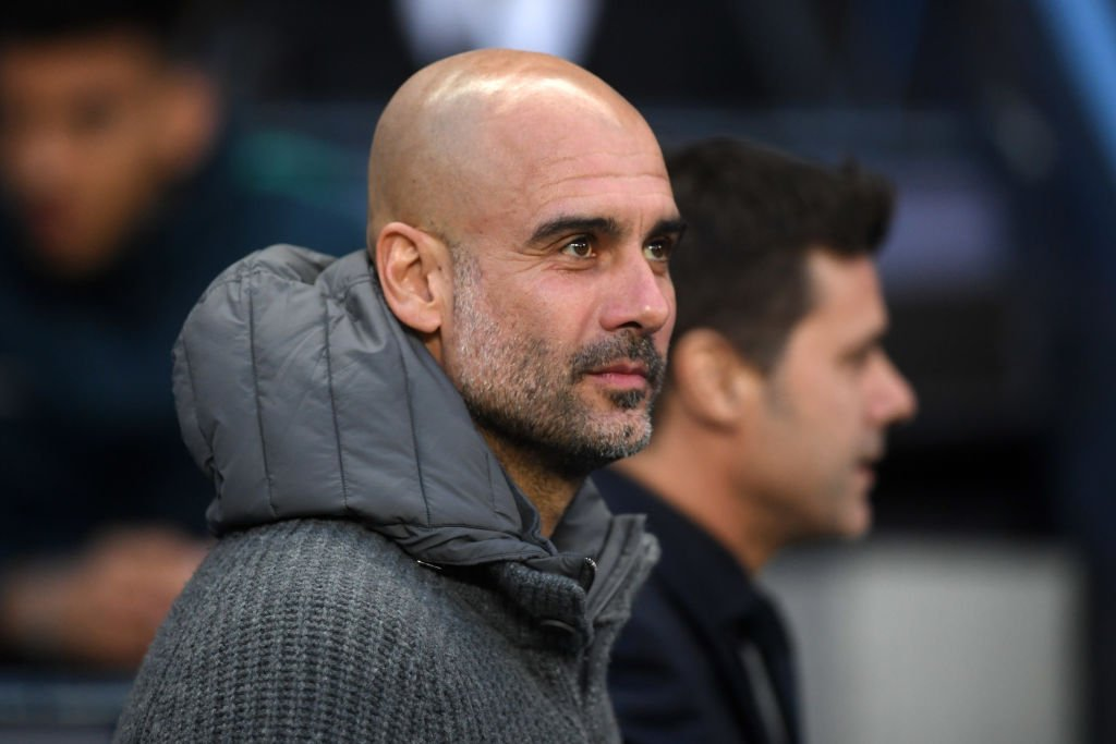 """""""It's tough but I like it.""""  Pep Guardiola says he is enjoying the intensity of the @PremierLeague title race after edging a 1-0 win over Spurs.   🗣 http://skysports.tv/TGBFPe"""