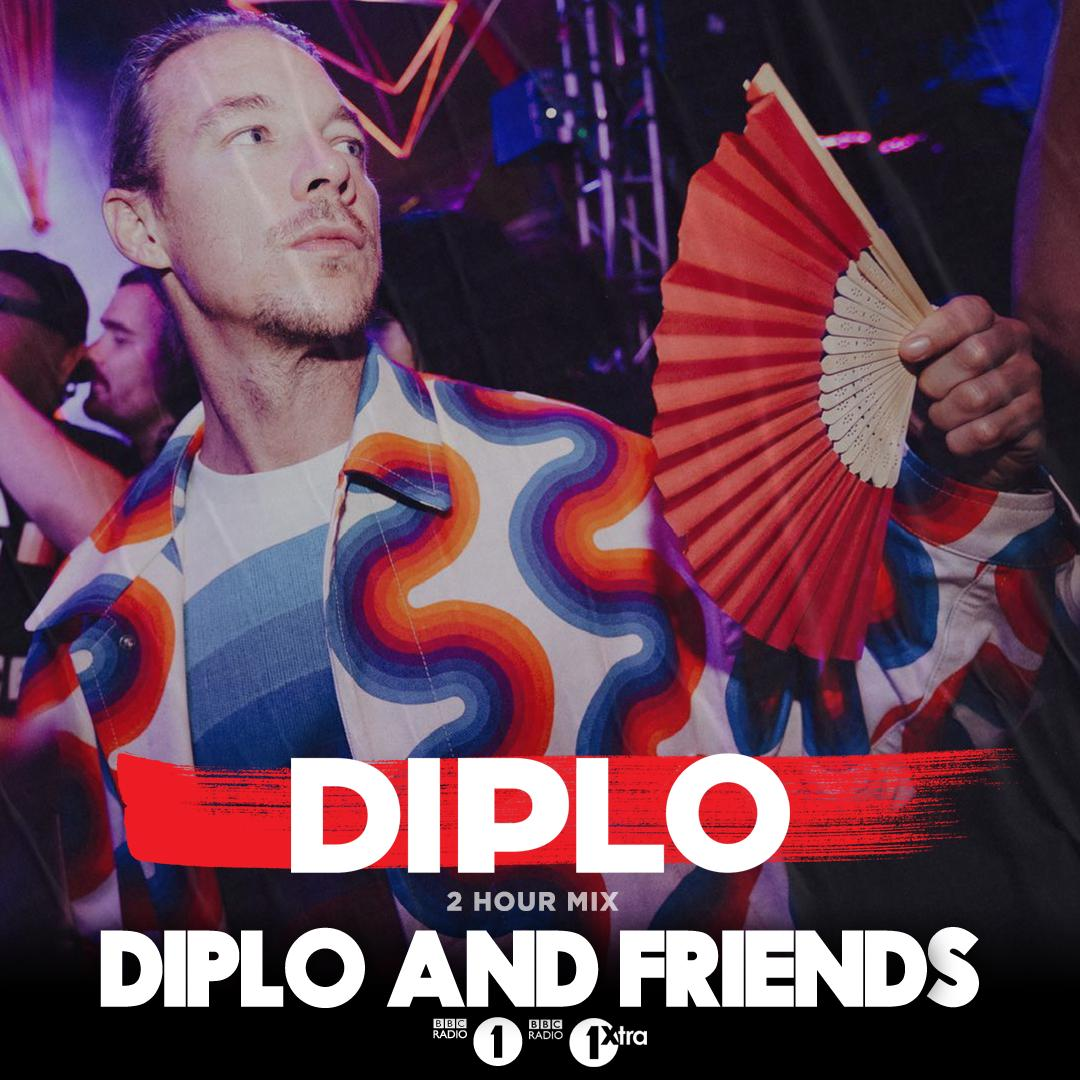 ⚡️ Don't miss out on @Diplo in the mix for a full 2 hours, only on @Diplo & Friends! https://bbc.in/2ZhRU9L for big records from @LeftwingKody @VonStroke @GorgonCity @disclosure @noizusound @Dombresky and more!!