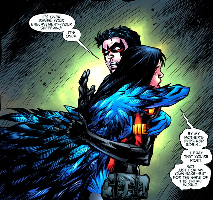 Raven and the Robins always had a special bond <br>http://pic.twitter.com/nqcJoPfVoU