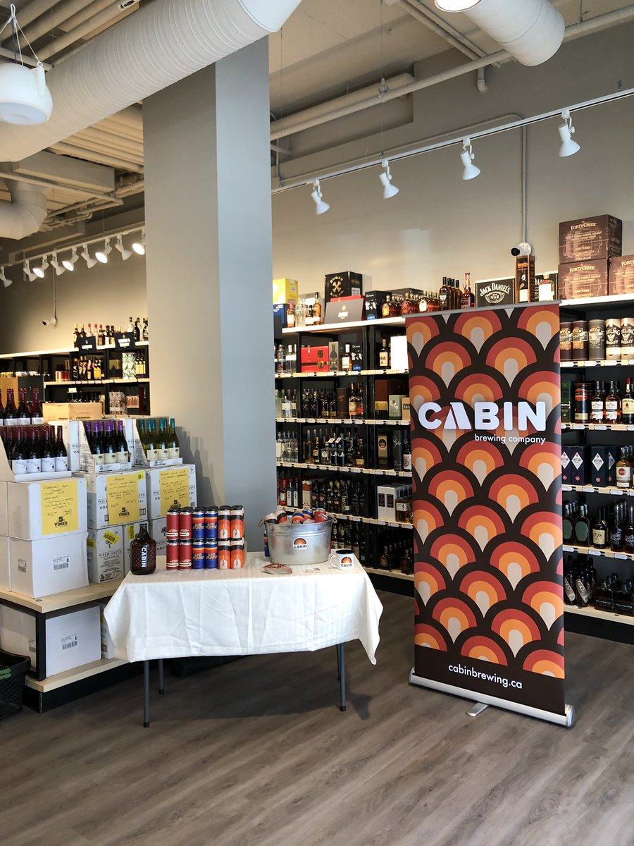 We're at the beautiful new @5_Vines store in Mahogany sampling until 7pm tonight - come say hi and try some delicious #CabinBeer!