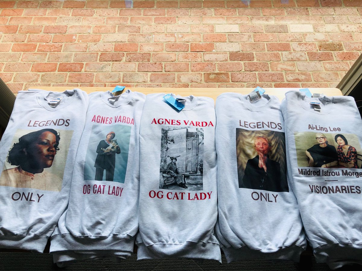 New Spring/Summer 19 line featuring Claire Denis and, to quote @Beccamford, OG Cat Lady Agnès Varda. PLUS the Oscar History-makers: Ai-Ling Lee and @iatroumorgan, the post-sound duo behind LA LA LAND and FIRST MAN and, of course, Joi McMillon. <br>http://pic.twitter.com/IYpcXsrsnv