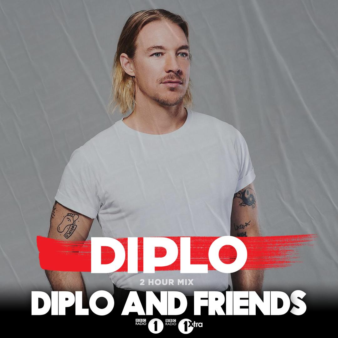 Join us for the 2nd hour of @Diplo and Friends with the man himself!  He draws for all the biggest Club Bangers and House Vibes 👉 https://bbc.in/2XsiZpb still @bok_bok @justinmartin @hervespace @Boddika @Lorenzosbeats @doctajeep to come in the mix...