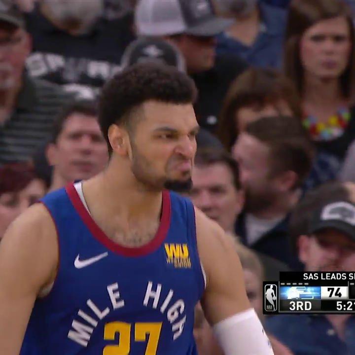 Mean mug Murray. #NBAPlayoffs #MileHighBasketball   📼 @NBAonTNT