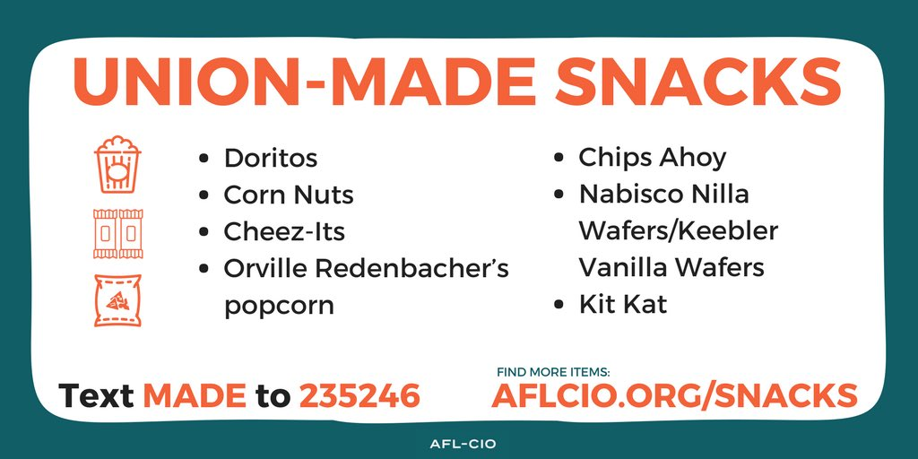 In case you needed some #unionmade snacks today..  #1u <br>http://pic.twitter.com/gaLjbpQVzA