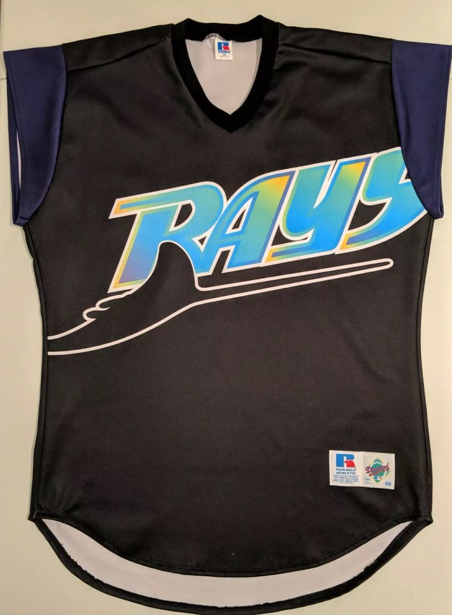 """While our beloved @RaysBaseball turn back the clocks for #DevilRays throw backs today... don't forget about in 1999 when they """"Turned Ahead the Clock"""" and wore these uniforms predicting what our uni's would look like in 2021. <br>http://pic.twitter.com/DBxhWdceT4"""