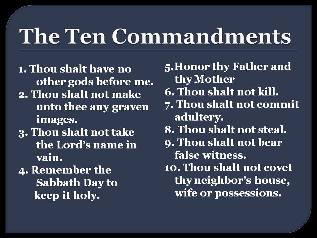 Trending Now ~ #TheTenCommandments ~ Often forgotten.