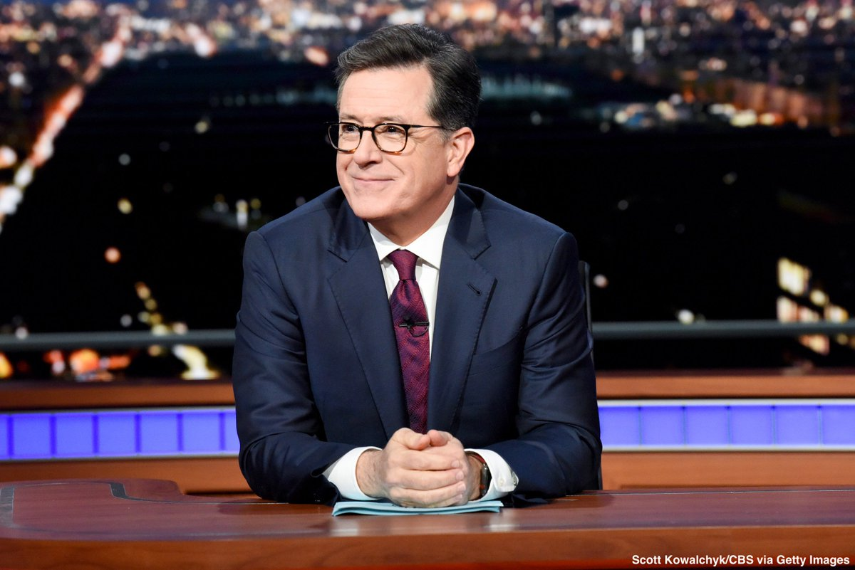 Stephen Colbert donates proceeds from his Hurricane Florence-related book—which uses quotes from Pres. Trump's visit to North Carolina in the storm's aftermath—to disaster-relief efforts. https://abcn.ws/2ZnRqit