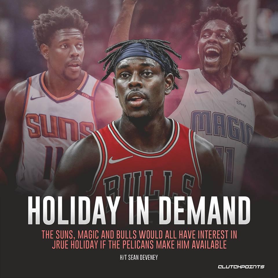 What jersey will Jrue Holiday wear next season? 🤔  #Bulls #Magic #Suns