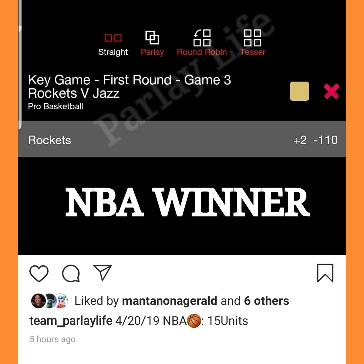 💵📈 for Team Parlay Life #ParlayLife #SportsBets #SportsBetting #Handicapping #Handicapper #NBA #NBAPicks #BasketballPicks