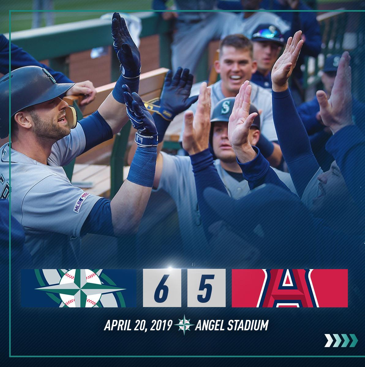 The Mariners secured a series win with a 6-5 victory over the Angels. #GoMariners  RECAP: https://atmlb.com/2KT0kkY