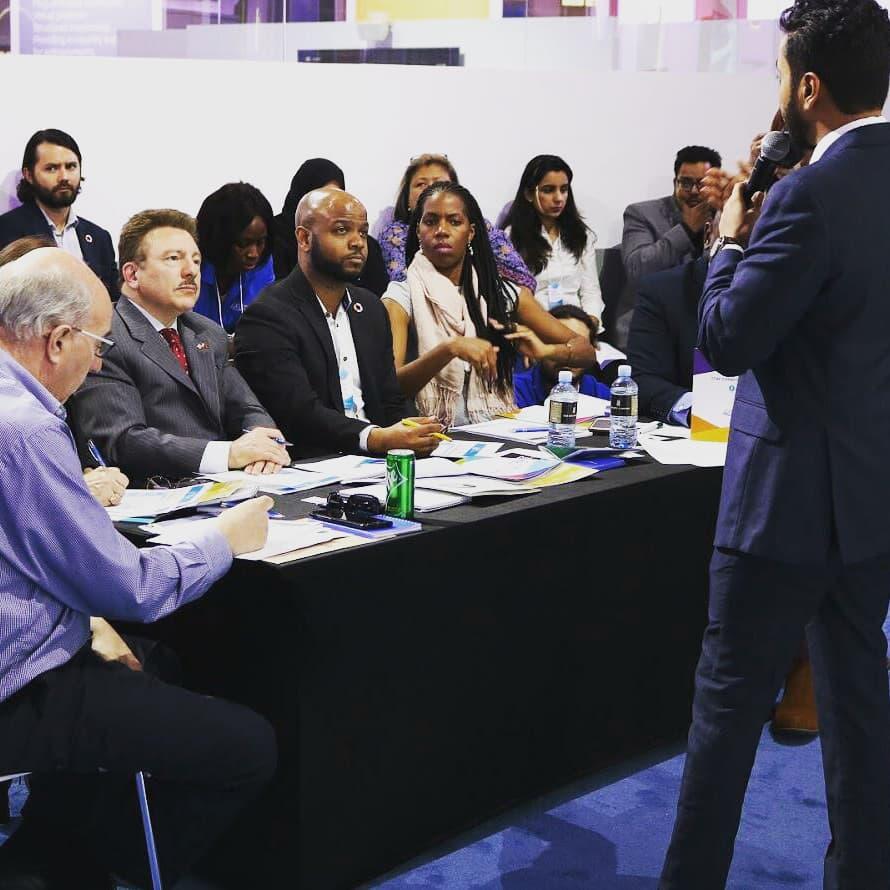 Pitching #AzaadHealth at the Global Entrepreneurship Congress GIST Tech-I challenge in Bahrain  #GEC2019 #gistnetwork #techi2019 #entrepreneurship #entrepreneurlife #startup #startuplife #pitch #competition #winner #bahrain #blockchain #healthcare #digitalhealth