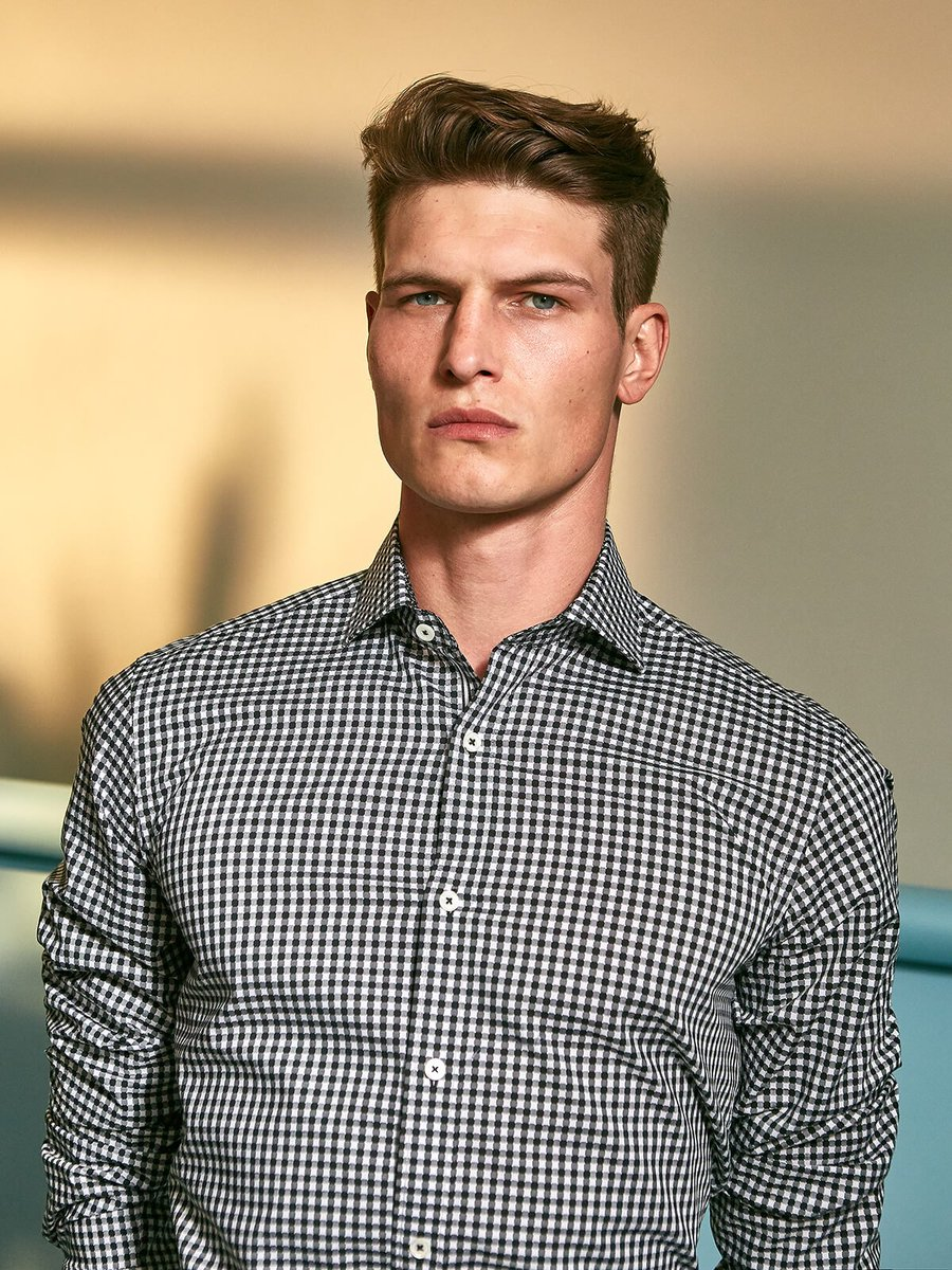 Shaped Fit Long Sleeve Mini Check Cotton Shirt Bugatchi  __ http://bit.ly/2sQUx3D  ___ #itisis #Bugatchi #Shaped #Fit #Long #Sleeve #Mini #Check #Cotton #Shirt #sax #nordstrom #dillards #fashion #love #Italy #essentials #black #African #Italian #billionaire #greatness  __&)