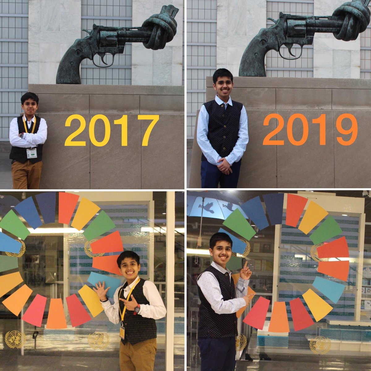From #IndiaAmbassador (2017) to #IndiaAndCanadaAmbassador (2019) 👉Coming back to @UN after 2 years with more clearer vision and mission. Long journey ahead... #ShapingAFairerWorld @SDGsForChildren @TeachSDGs @AFIChangemakers @APappaILD @UNECOSOC #YouthForum2030 #GlobalGoals