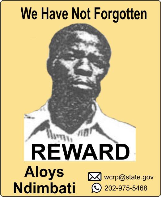 Contact us - 100% confidentiality. Get paid for information. Up to $5 million reward. wcrp@state.gov, WhatsApp +1 202 975 5468 #rewardforinformation #reward #1994genocide #Rwanda