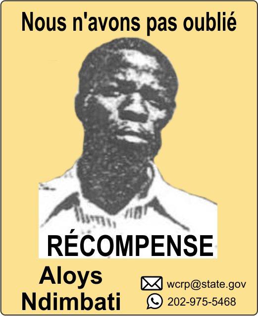 Contactez-nous - Confidentialité à 100%.  wcrp@state.gov, WhatsApp +1 202 975 5468 #Récompenseenéchangedinformations #Récompense #Génocidede1994 #Rwanda