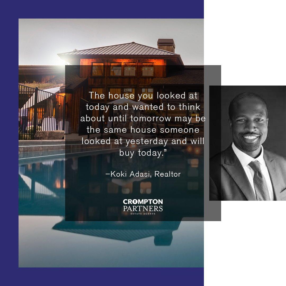 Quote of the day!  #RealEstate #inabudhabi #cromptonpartners #qotd #inspiration #simplyabudhabi #RealEstateQuotes