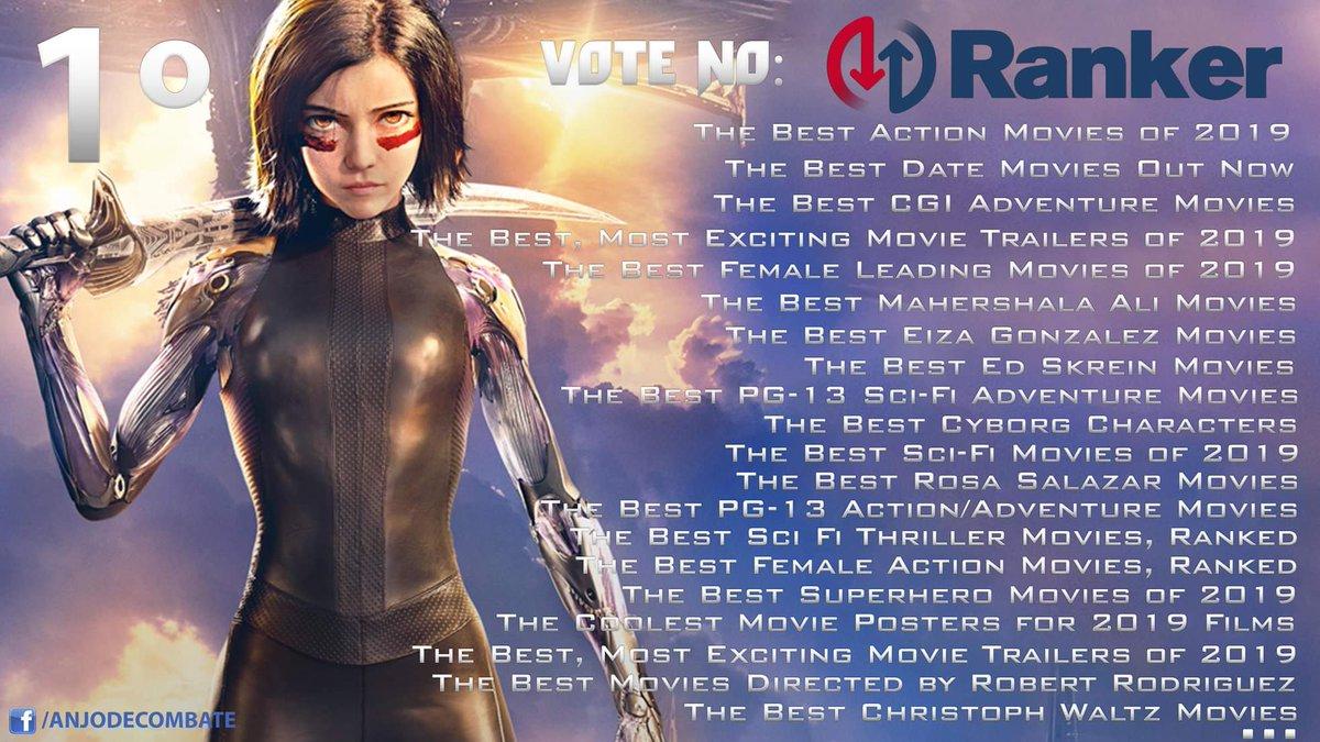 @Ranker abriu 23 votações para @AlitaMovie. #Alita está ganhando em 20 categorias assumindo o #1 LUGAR. Vamos ajudar votando: https://bit.ly/2Dtdz5M #alitamovie #AlitaChallenge #alitabattleangel #alitaanjodecombate