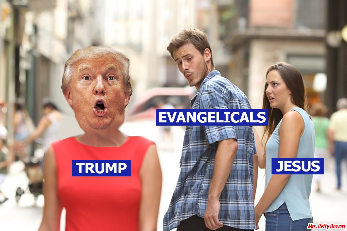 "Evangelicals like to say, ""Love the sinner; hate the sin.""  But with all their judging, praying in public, divorcing, retaliation, greed, not giving to the poor, and not healing the sick, they should be saying: ""Love the Jesus; hate His words."""