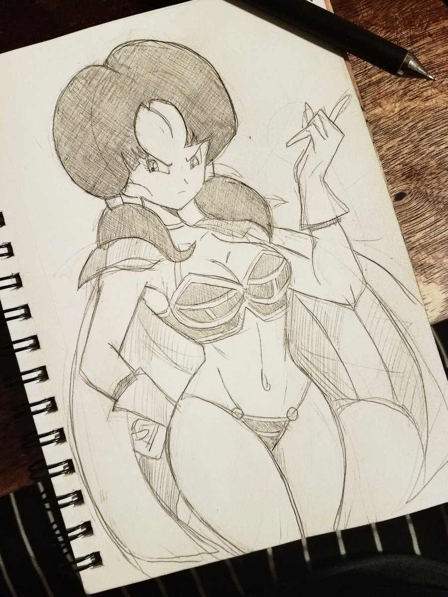 Complete sketch and better quality of videl in chichis sexy outfit.  Again I got this idea from @FunsexyDB  my favorite artists   #DragonBallSuper #videl #illustration <br>http://pic.twitter.com/bZdg4JBVCp